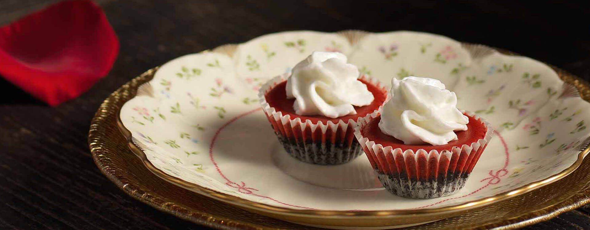 Red Velvet Mini Cheesecakes